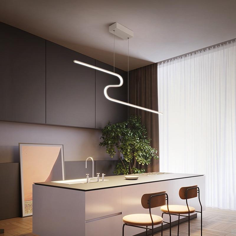 Nodric Kitchen Bar Modern Light Pendant Dining Room Hanging Lamp Cord Kitchen Island Lighting Handlamp Hanging Lights Bedroom