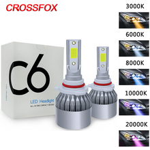 CROSSFOX Auto 6000K 880 LED H4 H1 H3 H8 H9 H11 12000K 9005 HB3 9006 HB4 H7 LED 9004 9007 H13 Headlight Bulbs Car Light Lamp 12V