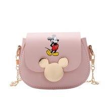 Sac à bandoulière motif mickey mouse pour femmes et enfants, sacoche en pu, mini porte-monnaie tendance avec chaîne, nouvelle collection 2020