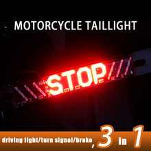 Feux de STOP arrière de moto, 1 pièce, 12V, universels, clignotants, feux de route, feux d'avertissement arrière