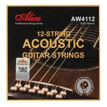 Alice aw4112 aw4212 12 cordas de guitarra acústica bronze revestimento antiferrugem
