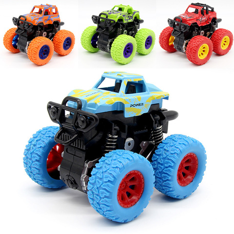 Green Kids Cars Toys Monster Truck Inertia SUV Friction Power Vehicles Baby Boys Super Cars Blaze Truck Children Gift Toys Karachi