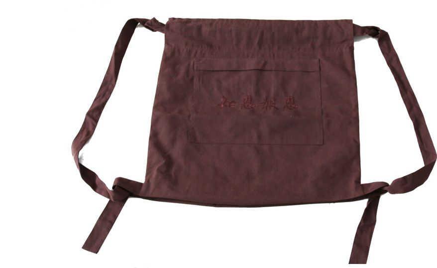 En kaliteli tuval Budist çanta shaolin keşiş sırt çantası Buda keşiş arhat paketi kung fu çanta zen yatıyordu meditasyon çanta sarı /gri