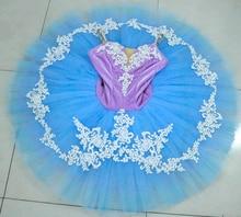 Blue Purple swan lake ballet tutu women platter sugar plum fairy professional pancake for female stage dance wear