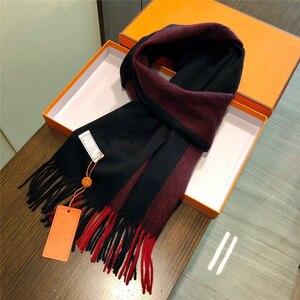 2020 новый классический красный и черный H шарф головной платок высокое качество для мужчин шерстяной шарф