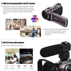 Image 4 - كاميرا فيديو رقمية من ORDRO تعمل بالواي فاي بدقة 4K UHD 30FPS كاميرا تصوير 3.1 بوصة IPS 64X IR رؤية ليلية واسعة الزاوية عدسة خارجية ستيريو ميكرفون لين هود