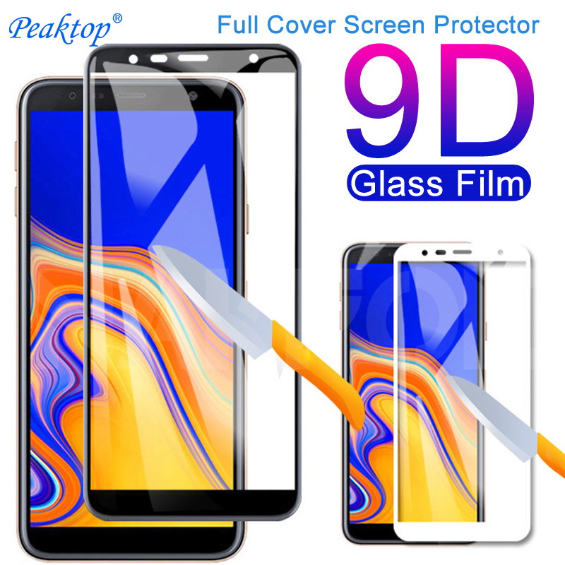 9D Full Cover Tempered <font><b>Glass</b></font> on For <font><b>Samsung</b></font> <font><b>Galaxy</b></font> J3 J5 J7 2016 2017 Screen Protector J2 <font><b>J4</b></font> J6 J8 <font><b>2018</b></font> Safety Protective Film image