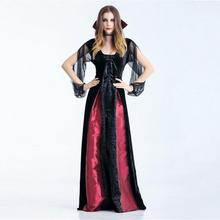 Women Fashion Sexy Slim Lace Up Halloween Cosplay Vampire Witch Vintage Gothic Long Dress 2019 Robe de femme  9.24