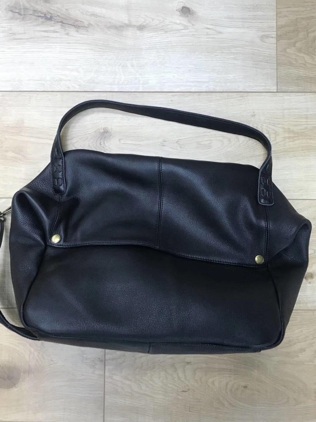 Mulher bolsas de couro genuíno natural bolsa