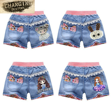 Styles New Children Shorts Jeans Female Baby Girls Short Pants Embroidered Kids Denim Shorts Summer Baby