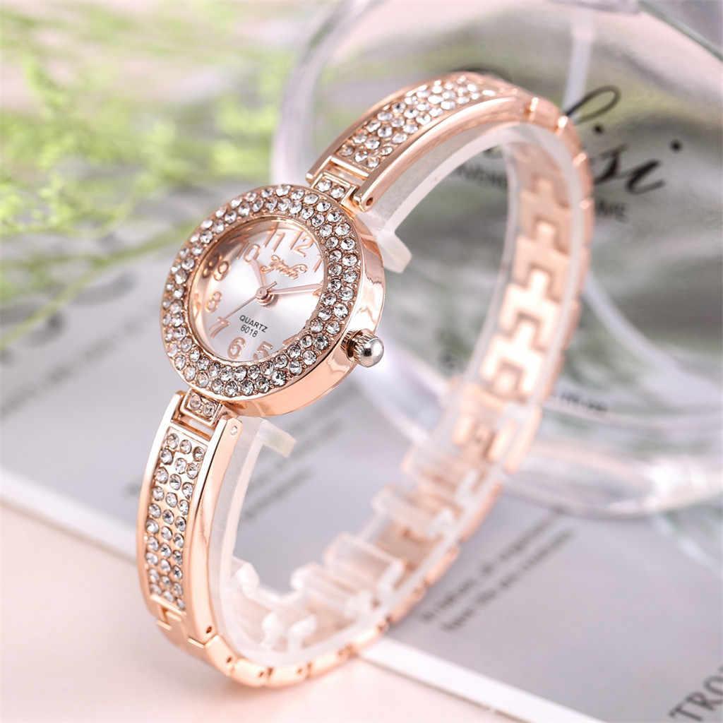 여성 개인 합금 쿼츠 시계 여성 전체 다이아몬드 럭셔리 시계