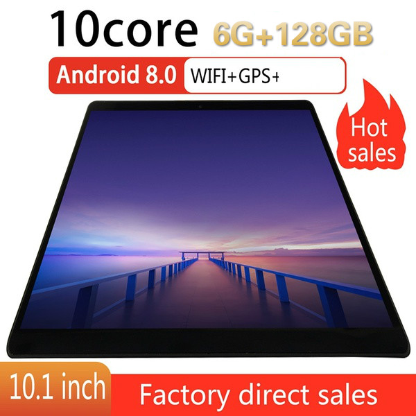 Android Tablet With 6GB +128GB Large Memory 10.1 Inch Tablet 10 Core  Dual SIM Card Pad Pro Phone 4G Call Wifi Android Tablets