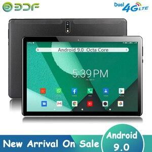 Новое поступление, 10,1-дюймовый Восьмиядерный планшет на Android 9,0, 3G, 4G LTE, планшеты с телефонными звонками, две sim-карты 4G, Google GPS, Wi-Fi, Bluetooth