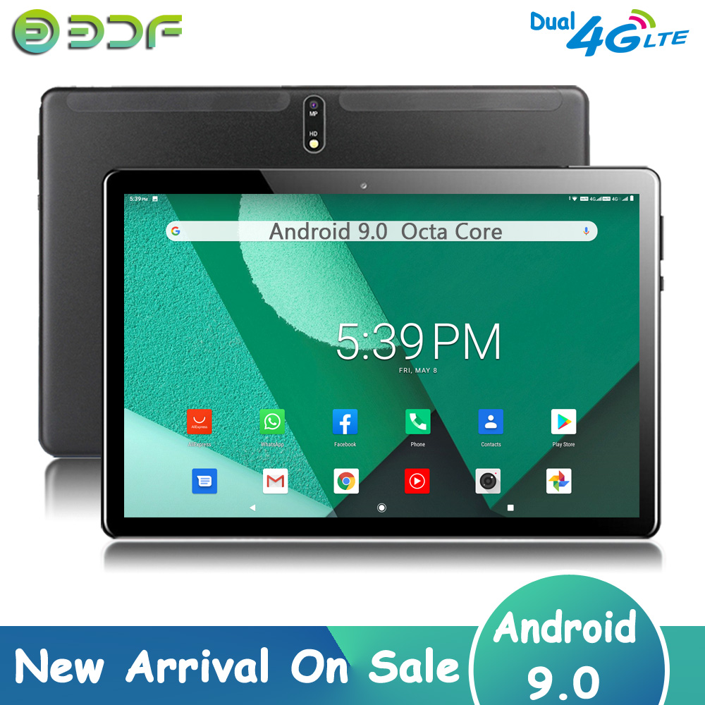 New Arrival 10.1 Inch Octa Core Android 9.0 Tablet Pc 3G 4G LTE Phone Call Tablets Dual 4G SIM Cards Google GPS WiFi Bluetooth
