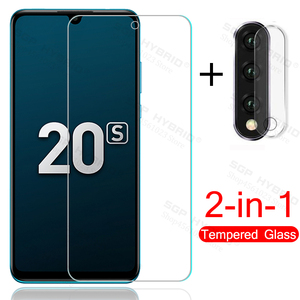 2in1 Camera glass for honor 20s 20 s honor20s protective glass on honor 20 lite 20lite light mar-lx1h 6.15'' phone screen film(China)