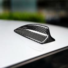 For BMW E90 E92 M3 E46 E60 E61 Carbon Fiber Shark Fin Antenna Cover Trim 3D Sticker Auto Antenna Plug Car Styling Accessories car styling carbon fiber auto car duckbill spoiler for bmw e60 2004 2010