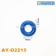 무료 배송 100 개. Oring seals 6*3.5mm 연료 인젝터 수리 키트/재건 키트 (AY O2215)