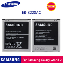SAMSUNG แบตเตอรี่ EB B220AC 2600mAh สำหรับ Samsung Galaxy Grand 2 G7102 G710 G710K G710L G7105 G7106 G7108 G7109