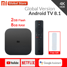 Original Globale Xiao mi mi TV Box S 4K HDR Android TV 8,1 Ultra HD 2G 8G WIFI Google Cast Netflix IPTV Set top Box 4 Media Player