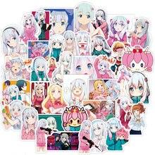 50 pçs anime eromanga sensei adesivos decalques kawaii izumi sagiri adesivo para computador portátil skate motocicleta diy anime amantes presentes
