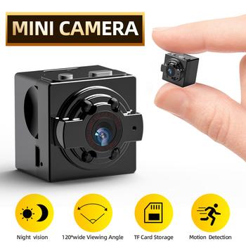 Kamera SDETER Mini kamera HD 720P kamera sportowa DV IR Night Vision detekcja ruchu mała kamera DVR kamera wideo tanie i dobre opinie Kamera analogowa 720 p (hd) 3 6mm Mini kamery CN (pochodzenie) Osadzone Boczne Black 0 01LUX CMOS Sony Odporne na wandalizm