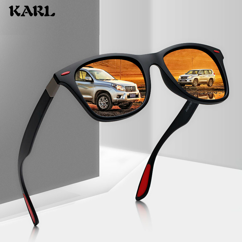Men Polarized Sunglasses Classic Mirror UV400 Black Eyewear  Driving Luxury Square Women Shades