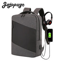 Jojopugo 2020 Fashion High Quality Backpack Korean USB External Charge 15.6 Inch Laptop Men's Anti-theft Waterproof Backpack