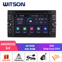 Witson android 9.0 4 gb ram + 64 gb flash 8 octa núcleo do carro dvd para nissan navara np300 micra pathfinder patrulha ensolarado + dvr/wifi + dsp + dab(China)