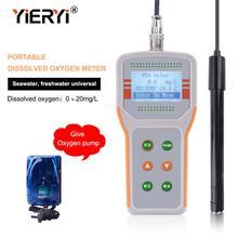 Yieryi JPB 607A נייד מומס חמצן מטר עבור דגי שרימפס חקלאות מים באיכות צג לעשות מטר ATC טווח (0.0  20.0) mg/L