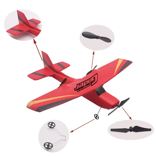 Z50 2.4G 2CH 350mm Micro Wingspan Remote Control RC Glider Airplane Plane Fixed Wing EPP Drone with Built-in Gyro for Kids 4