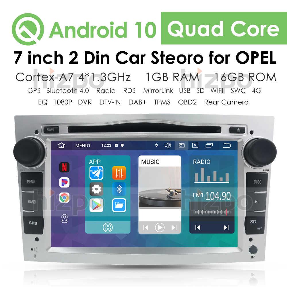 Android 10 2DIN DVD GPS pour Vauxhall Opel Astra H G J Vectra Antara Zafira Corsa ecran multimédia autoradio audio stéréo 4GWIFI