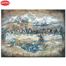 Diamond Painting Hot Selling Home Religious Art, Jesus,The Last Supper 5d Cross Stitch Diamond Embroidery Mosaic Gift Home Decor