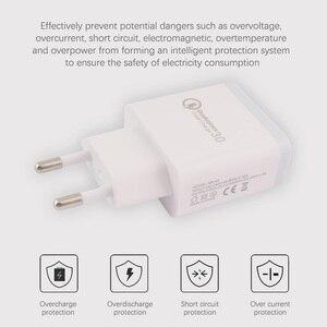 Штепсельная Вилка европейского стандарта 5 В/3,0 А 18 Вт Зарядное устройство для мобильного телефона Быстрая зарядка 1 порт USB зарядное устройс...