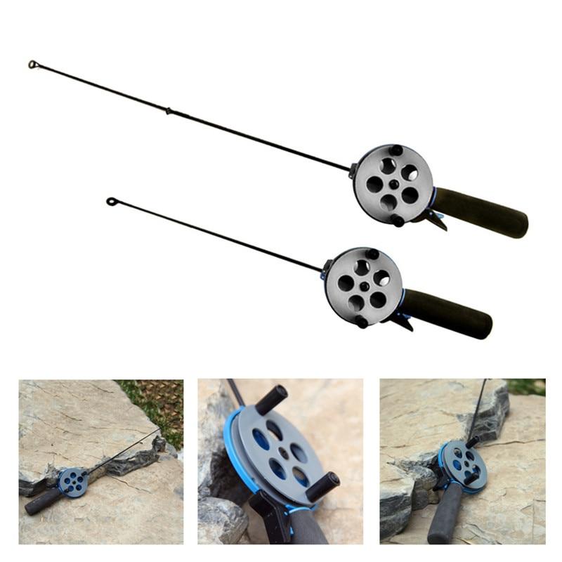 Winter Fishing Reels Ice Fishing Rods Mini Flexible Rod Anti Slip Outdoor Sport Fishing Tackle Fishing Accessories