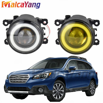 2x NEW Angel Eyes Car styling LED fog Lights For Subaru Outback 2010 2011 2012 For Subaru Forester 2013 2014 2015 2016 2017 2018 image
