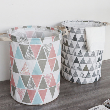 Folding Design Laundry Basket With Wide Handle Design For Dirty Clothes
