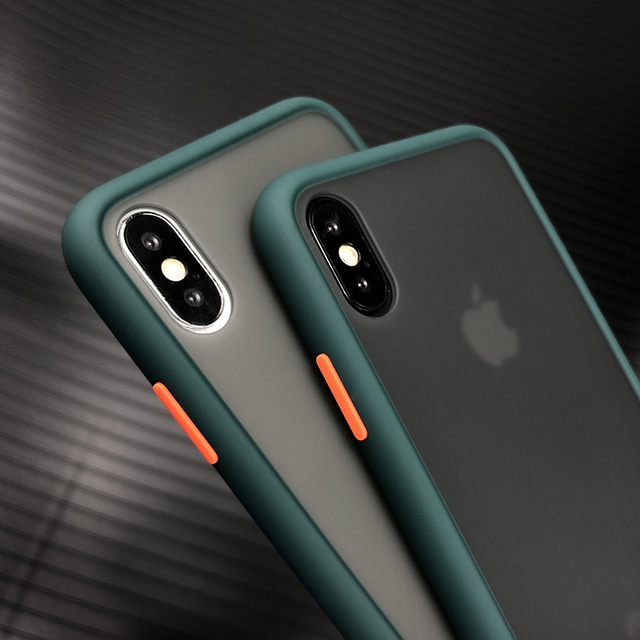 Shockproof Phone Case Back Cover For iPhone 11 Pro Max Luxury Translucent Soft Case For iPhone X XS Max XR 9 8 7 6 6S Plus Case 2