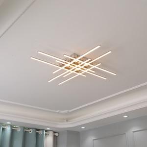 Image 1 - Современная светодиодная люстра, потолочная лампа с хромированным покрытием для гостиной, спальни, ресторана, кухни, комнатное освещение