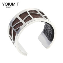 Cremo Argent Cuff Bague De Pieds Femme Jewelry Stainless Steel Rings Interchangeable Leather Bague Femme Rings Bijoux цена 2017