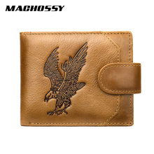 Classic Soft Genuine Leather Men Wallet Coin Purse Small Min