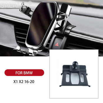 GPS Gravity Car Styling Accessories Car Phone Holder Air Vent Mount Mobile Phone Stand Holder For BMW X1 F48 / X2 F39 2018 2019 image