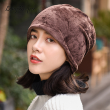 New Fashion Women Beanie Hat Spring Autumn Skullies Winter Cap Scarf Bonnet Gorros Casual Solid Color Hats For Female new spring winter beanie skullies hat for men women yellow exclamation mark pattern fashion black knitted gorros fitted casual