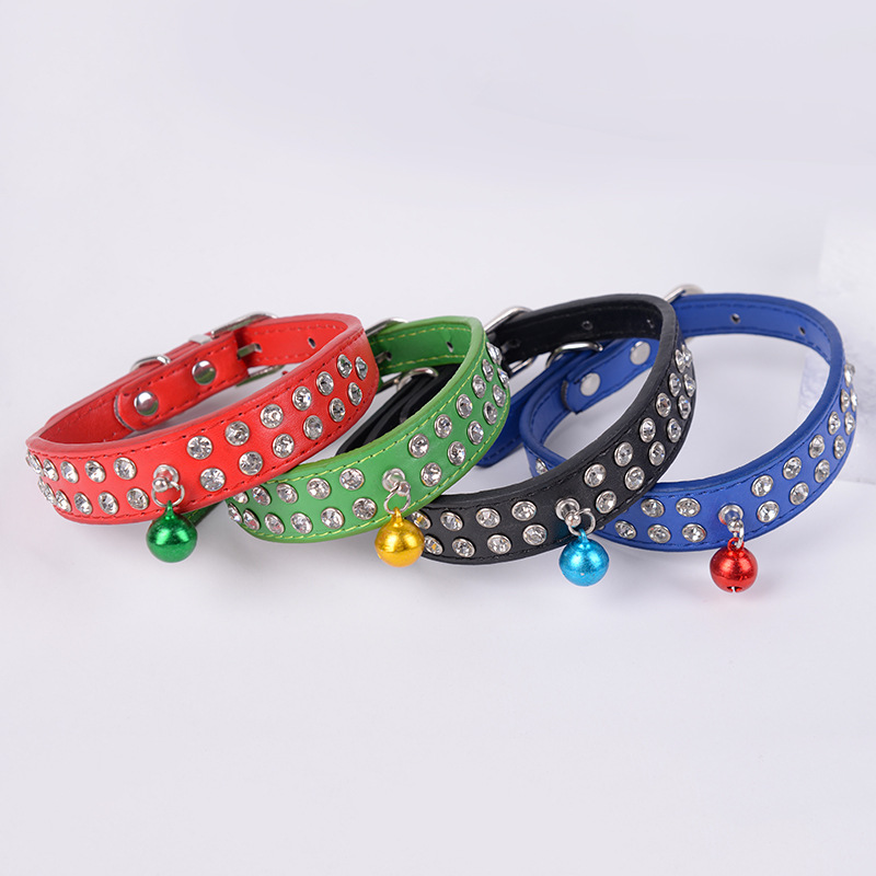 2018 New Style With Man-made Diamond Pu Popular Neck Ring Pet Supplies Outdoor Dog Decoration Neck Ring