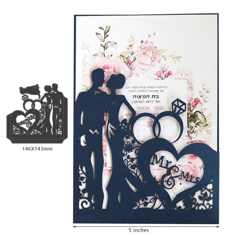 Casal de casamento dados de corte de metal dados scrapbook decoração de papel ofício faca molde lâmina soco estênceis morrer corte
