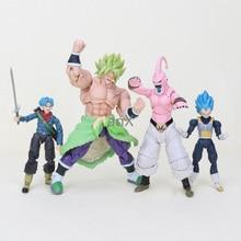 цена на 13-20cm Dragon Ball Super Saiyan Trunks Vegeta Broly Buu  Figure Dragon Ball Z Goku Broly Figurines PVC Model Toys