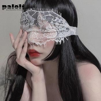 Paloli Passion Sexy Lace Eye Mask Party Queen Transparent Underwear Binding Temptation Accessories Headdress