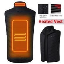 Электрический нагревательный жилет мужской Электрический теплый жилет перезаряжаемый жилет без рукавов