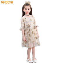 VFOCHI 2019 Girl Princess Dresses Summer Girls Party Clothes Elegant Lace Baby Kids for 3-12Y tutu