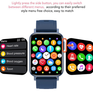 Image 2 - 2021 Thể Thao Đồng Hồ Thông Minh Nam Nữ Tùy Chỉnh Giấy Dán Tường Đồng Hồ Thông Minh Smartwatch Nhiệt Độ Cơ Thể Đo Nhịp Tim Đồng Hồ Dành Cho IOS Android