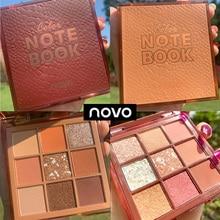 NOVO Notebook Pearl Sequins Shimmer Eyeshadow Palette Glitter Matte Eye Shadow P